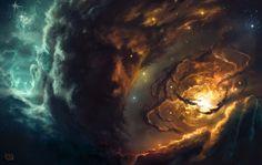 Creation by Rob-Joseph on DeviantArt Dark Fantasy Art, Sci Fi Fantasy, Space Fantasy, Dark Souls, Lion Of Judah, Angels In Heaven, Angels And Demons, Celestial, Gods And Goddesses