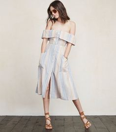 Reformation Off-the-shoulder Mariana Dress