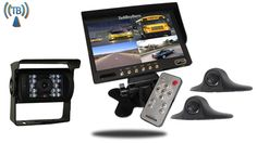 Ultimate 7-Inch split screen Wireless RV Trailer Backup Camera System with 2 side cameras and a RV Box camera with night vision
