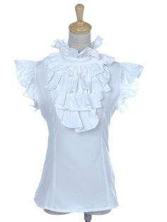 Anna-Kaci S/M Fit White Elegant Ruffle Judge Collar and Capped Sleeve Fitted Top Anna-Kaci,http://www.amazon.com/dp/B008VY1556/ref=cm_sw_r_pi_dp_NyyJrbE3872543B9