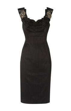 Karen Millen Colourful jewel Dress Black ,fashion Karen Millen Solid Color Dresses outlet