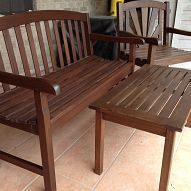 staining faded teak furniture.  Hometalk :: I was finally tired of the faded, stained and generally unattractive p…