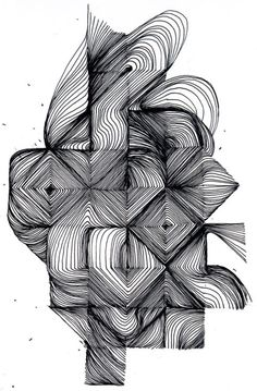 intricate geometric pen and ink art