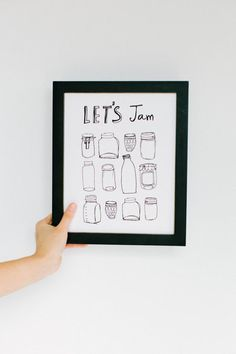 Lets Jam Print by rosemarypaperco