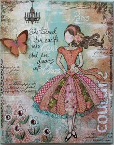 Gabriellep's Gallery: Mixed Media Canvas (Template & Tutorial!!)