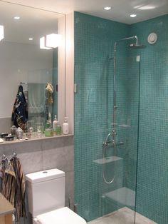 Dusch-mosaik-glasvägg-Philippe Starck WC-
