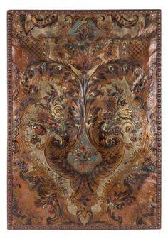 Lote 526 Cordobán con decoración de rocallas y flores, Córdoba, pps.S.XVIII. Faltas 98 x 69 cm