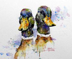 Duck watercolor