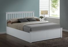 White Wooden Bed Frame With Headboard And Double Storage Drawers intended for measurements 1700 X 1200 White Double Bed Frame With Storage Drawers - Wooden Bed With Storage, Double Bed With Storage, Bed Frame With Storage, Ottoman Storage Bed, Ottoman Bed, Bed Frame And Headboard, Upholstered Bed Frame, White Double Bed Frame, Memory Foam