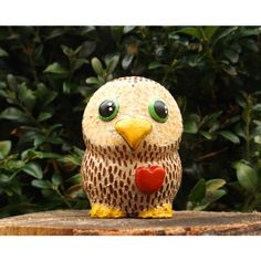 The Owlet Valentines Day Gift Owl Figurine Owl Ornament ($13) ❤ liked on Polyvore featuring home, home decor and holiday decorations