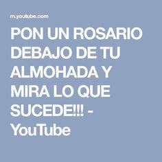 PON UN ROSARIO DEBAJO DE TU ALMOHADA Y MIRA LO QUE SUCEDE!!! - YouTube