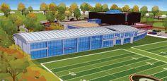 Artist rendering of UGA Football Facility