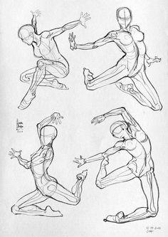 Some anatomical studies - (Sport) by Laura Braga, via Behance: