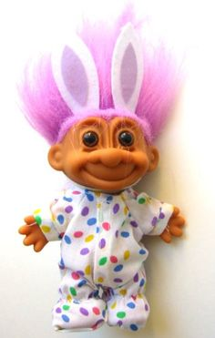 "My Lucky Easter Bunny 6"" Troll Doll Russ Berrie"