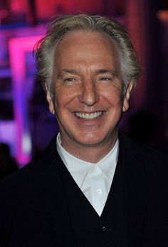 """July 2011 - Alan Rickman at the London premiere of """"Harry Potter and the Deathly Hallows: Part Harry Potter Severus Snape, Alan Rickman Severus Snape, Alan Rickman Always, Lovely Smile, Ares, John Wayne, British Actors, Best Actor, Portrait"""
