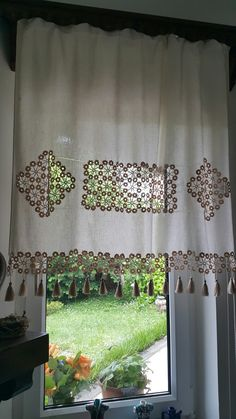 Boho Curtains, Crochet Curtains, Valance Curtains, Kitchen Curtains, Crochet Home, Window Coverings, Home Textile, Doilies, Home Accessories