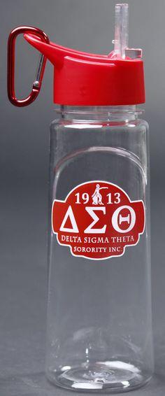 Delta Sigma Theta water bottle