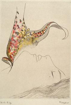 Toyen (Marie Čermínová, - Untitled (Chapter X), N/D drypoint Nancy Spero, Catalog Printing, Surreal Artwork, Art Academy, Magritte, Wild Hearts, New Artists, Watercolor Tattoo, Illustration Art