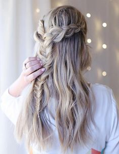 Half Up Braided Hairstyles Ideas for this Spring Summer 2018