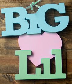 Wooden Big and Lil Love/Appreciation IttXi Letters by artxidesigns, $17.50