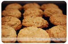 Gluten Free Chewy Oatmeal Granola Cookies