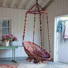 Boho Chic On A Budget: DIY Hanging Macramé Chair | Pinterest | Clutter,  Budgeting And Classy