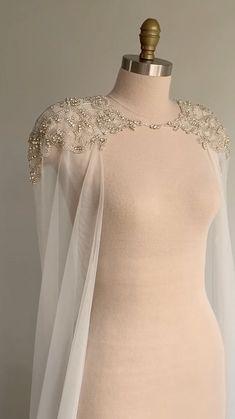 Dream Wedding Dresses, Bridal Dresses, Prom Dresses, Wedding Dresses With Cape, Wedding Cape Veil, Malay Wedding Dress, Kebaya Wedding, Hijab Wedding Dresses, Fitted Dresses