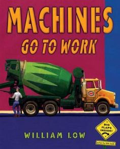 Toddlers love machines and things that go, and this book gives them everything they want, from a cement mixer to a helicopter to a backhoe. Six interactive gatefolds extend the original pictures to three pages, revealing something new about each situation. The final double gatefold opens into a very long train and shows all the machines at work!