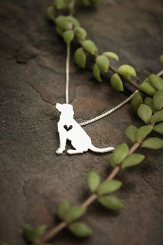 Labrador Retriever Tiny Sterling Silver Pendant and Necklace ~ A delicate way to keep a loved pet close to your heart ~ Lovely gift idea | Just Plain Simple