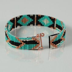 This Tribal Arrows Bead Loom bracelet was inspired by the amazing colors and patterns I see around me every day in Albuquerque, New Mexico. As with