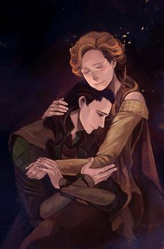 Loki was never Laufey's son. Loki was never Odin's son. But, Loki is and always will be Frigga's son. <----  This.  Awwww, Loki...  (Beautiful fan art!)