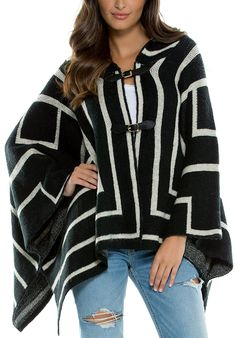 Elan Women's Sweater Hooded Poncho *** Trust me, this is great! Click the image. : Fashion
