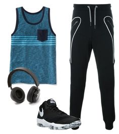 A menswear look from April 2016 featuring mens jerseys, mens cotton pants and mens sneakers. Browse and shop related looks. Old Navy, Men's Fashion, Menswear, Play, Workout, Shoe Bag, Nike, Polyvore, Stuff To Buy