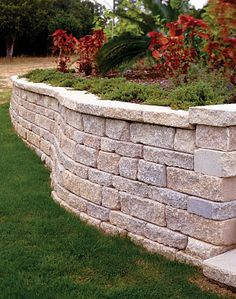 When seeking retaining wall blocks for your next outdoor landscape or patio project, see what makes the stone retaining wall pavers from Belgard stand out above the rest. Diy Retaining Wall, Building A Retaining Wall, Landscaping Retaining Walls, Home Landscaping, Front Yard Landscaping, Landscape Design, Garden Design, Landscape Services, The Great Outdoors