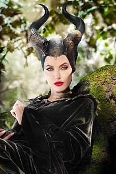 Angelina Jolie as Maleficent: such a beautiful movie, and Jolie masters the role!