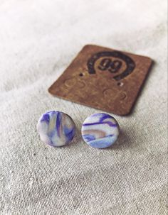 Free shipping! Check out our new range of handmade, one of a kind, polymer clay jewellery at 99 Farm Gift Shop Handmade Jewellery, Unique Jewelry, Handmade Gifts, Handmade Polymer Clay, Polymer Clay Jewelry, Purple Marble, Etsy Seller, Women Jewelry, Range