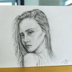 Pencil drawing Portrait Art, Pencil Drawings, Artwork, Instagram, Work Of Art, Auguste Rodin Artwork, Artworks, Illustrators, Pencil Art