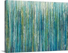 Greencicles.  This abstract canvas is serene and lovely.