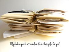 "SERENDIPITY PACK - random snippets of vintage paper - ""Plundered Pages"""