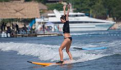 Vanessa Hudgens and Ashley Green learn to surf in Bali