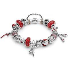 picture image pandora christmas bracelet - Google Search