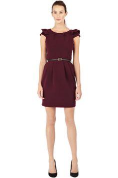 7d98944bf521 Purple puff shoulder dress