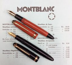 Montblanc in Denmark The Untold Story. Pelikan Fountain Pen, Fountain Pen Ink, Vintage Pens, Write To Me, Writing Instruments, Ballpoint Pen, Denmark, Stationery, Drawing