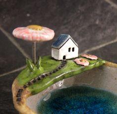 Spring...Keepsake Bowl in Stoneware от elukka на Etsy