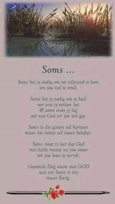 Soms moet jy leer dat God met liefde mense na jou stuur om jou lewe te verryk. Pray Quotes, Faith Quotes, Qoutes, Life Quotes, Good Morning Wishes, Good Morning Quotes, Uplifting Quotes, Inspirational Quotes, Motivational