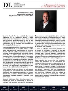 #Immobilier #Conseil #Financement #Revovation: Financer une rénovation. Dans votre #IMMOmagazine No.31
