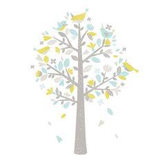 Lilipinso Wandsticker XL Baum pastellblau