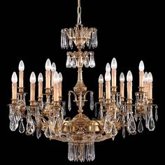 Crystal Collection - Eighteen Light Chandelier - Eighteen Light Chandelier in French Gold Finish. Handcrafted in Italy.