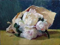 """Small Peony Posy in the Evening"" SOLD"