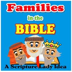 Families in the Bible for Preschoolers - A Scripture Lady Live Performance Preschool Bible Lessons, Bible Lessons For Kids, Preschool Themes, Bible For Kids, Preschools, Christian Kids, Church Crafts, Sunday School Lessons, Bible Crafts